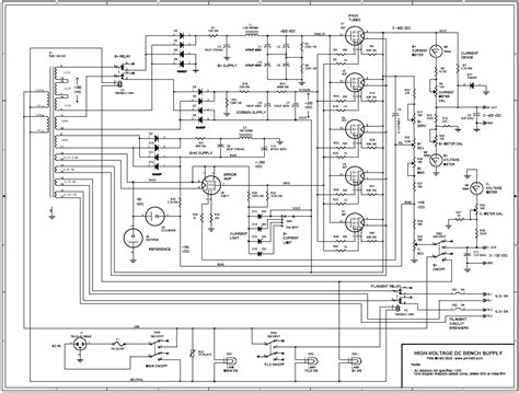 bench power supply schematic high voltage bench supply