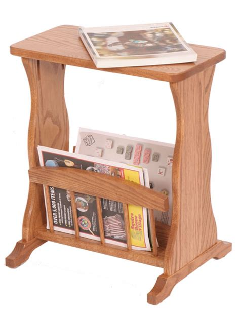 magazine rack with table top four seasons furnishings amish made furniture amish made