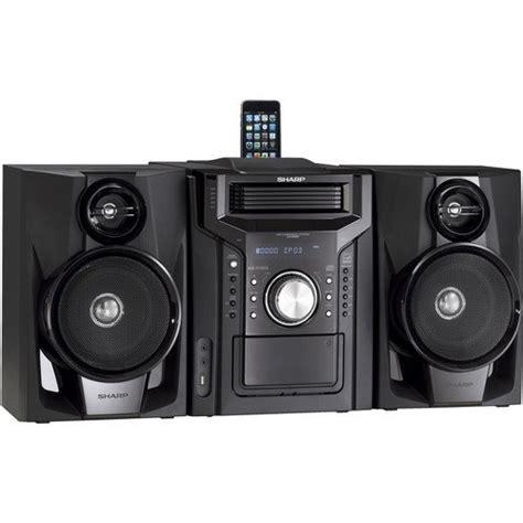 Home Theater Mini Sharp sharp 240 watts mini hi fi audio stereo sound system with ipod iphone dock 5 tray cd player