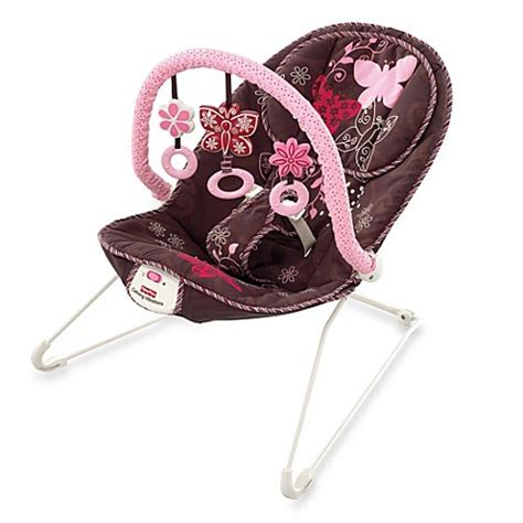 mocha butterfly swing fisher price 174 mocha butterfly bouncer buybuy baby