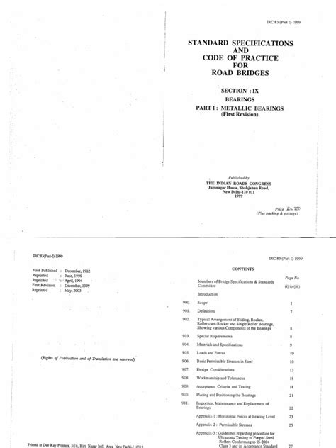 irc section 1 irc 83 part 1 code of practice for road bridges