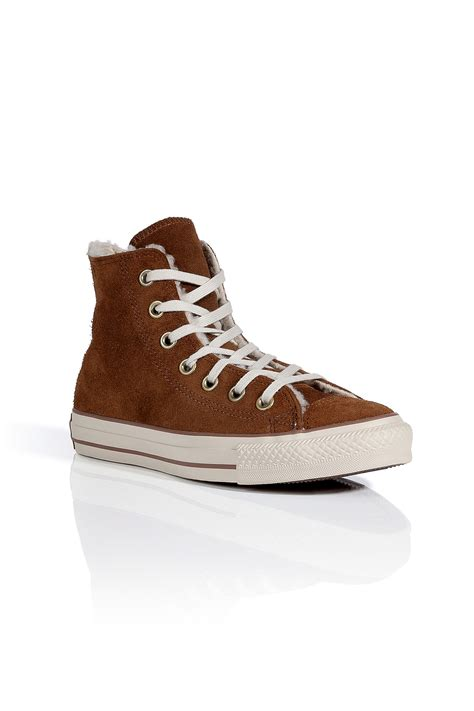shearling lined sneakers converse monks robe suede ct shearling lined hi sneakers