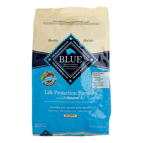 blue buffalo protection puppy blue buffalo protection formula chicken brown rice puppy food 15 lb