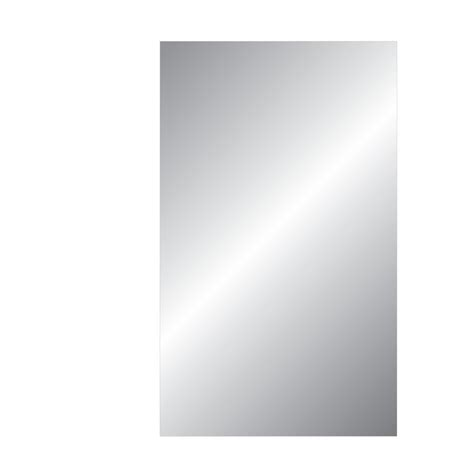 replacement bathroom mirror glass shop gardner glass products 1 8 in x 24 in x 30 in clear mirrored replacement glass