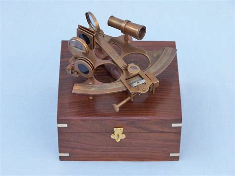 wholesale boutique copper brass collectable handwork get buy captain s antique brass sextant 8 inch with rosewood