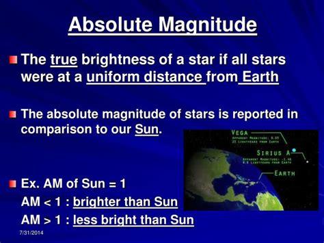 absolute magnitude of sun ppt stars characteristics powerpoint presentation id