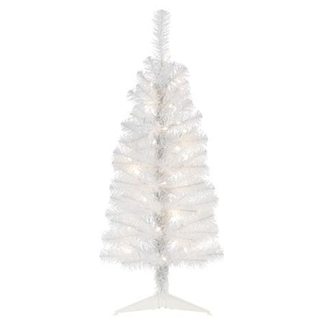 3 ft white pre lit tree christmas trees asda direct