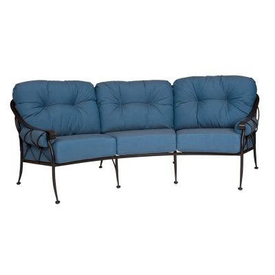 Cheap Sofas In Derby by Woodard 4t0064 Derby Crescent Sofa With Cushions And