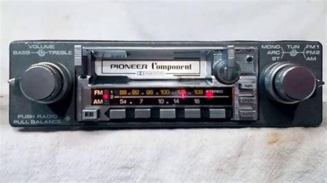 cassette car stereo vintage pioneer kex 23 am fm cassette car stereo