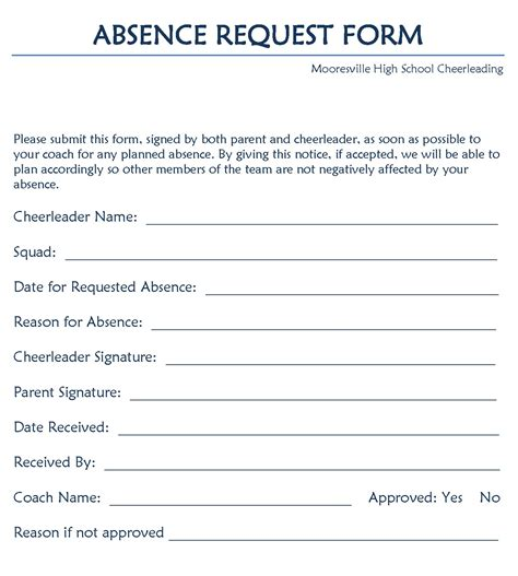 Justification Letter Absence Simple Leave Request Form Free Templates