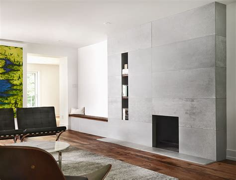 distressed concrete fireplace toronto anthony concrete