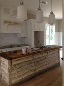 kitchen island wood 30 rustic countertops that add coziness to your home digsdigs