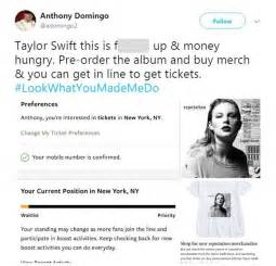 taylor swift reputation tour lineup taylor swift fans outraged at new ticket policy daily