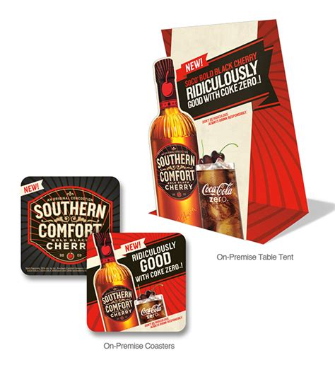 southern comfort label southern comfort bold black cherry launch on behance