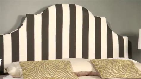 Safavieh Black White Stripe Headboard Hallmar Youtube Black And White Striped Headboard