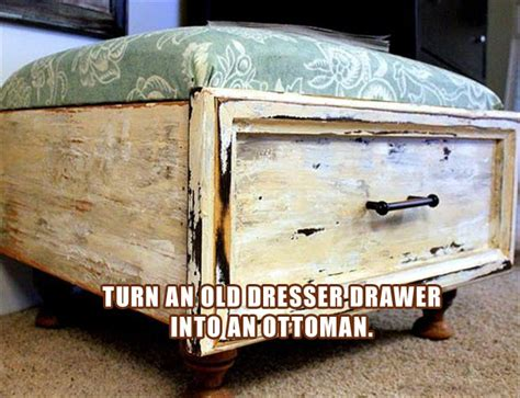 Things To Do With Dresser Drawers by Turn An Dresser Drawer Into An Ottoman Dump A Day