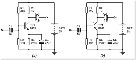 pnp transistor audio lifier circuit how can a pnp transistor work as lifier electrical engineering stack exchange