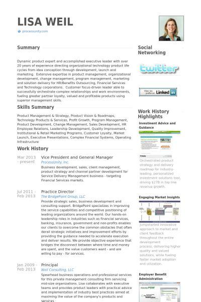 Resume Vice President Product Management Vice Pr 233 Sident Et Directeur G 233 N 233 Ral Exemple De Cv Base De Donn 233 Es Des Cv De Visualcv