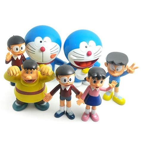 New Arifal Jumpsuit Overall Doraemon Set 2018 new arrival anime doraemon figures toys 10cm doraemon family pvc dolls