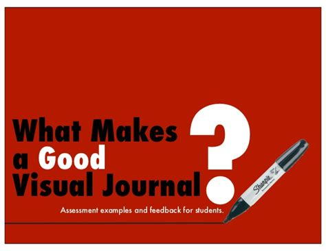 what makes a good home what makes a good visual journal assessment exles