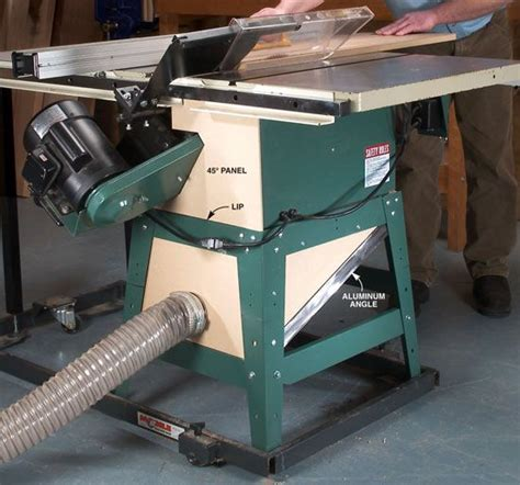 table saw dust collection capture tablesaw dust woodworking shop woodworking and woodworking magazine
