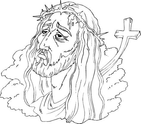 coloring pages jesus crown of thorns crown of thorns coloring page coloring com
