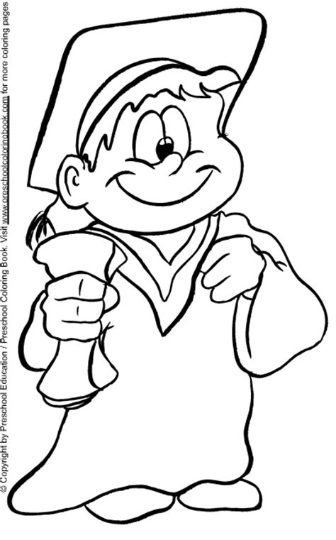 coloring pages for kindergarten graduation www preschoolcoloringbook graduation coloring page
