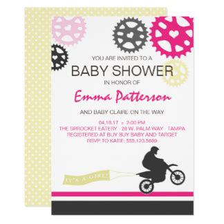 Bike For Baby Shower by Dirt Bike Invitations Announcements Zazzle Au