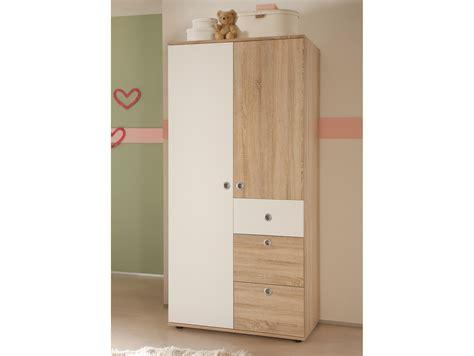 Kleiderschrank 90 Cm Breit Weiß by Tina Kleiderschrank 2 T 252 Rig Sonoma Eiche Wei 223