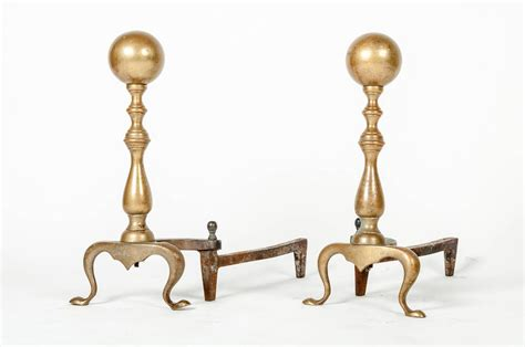 Fireplace Andirons by Vintage Brass Andirons At 1stdibs
