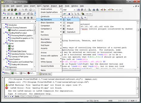 latex tutorial pdf windows big list latex editors ides tex latex stack exchange