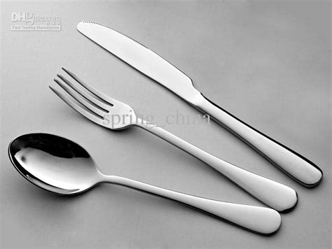 tableware cutlery sets dinner knife fork spoon 3 different