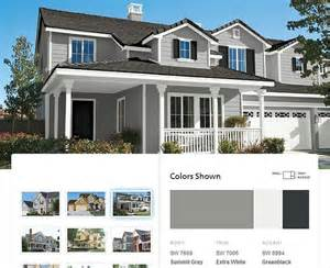 house paint color schemes sherwin williams summit gray exterior ideas