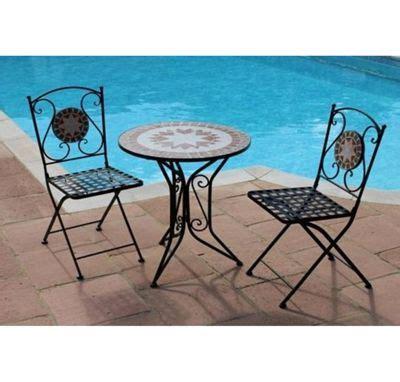 buy greena mosaic bistro set   garden furniture
