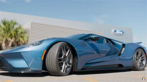john cena barely fits    ford gt