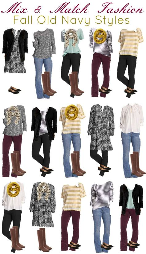 navy mix and match wardrobe for fall