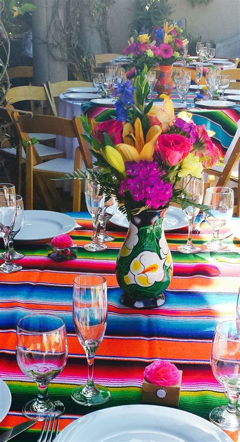 mexican table centerpieces mexican themed quincea 241 era centerpieces wedding multi
