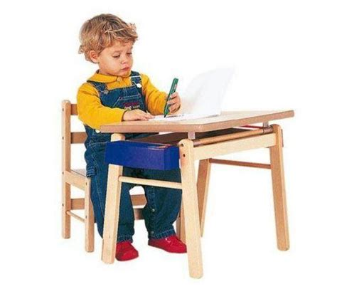bureau combelle mobilier enfant combelle table pupitre vernis naturel