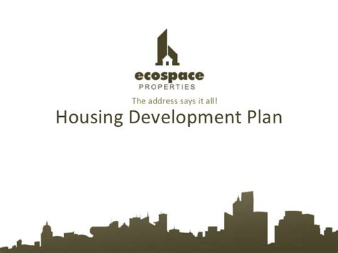 housing development business plan business plan for housing development