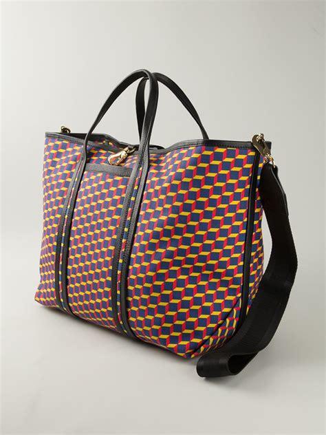 geometric pattern tote bag pierre hardy geometric pattern tote bag lyst