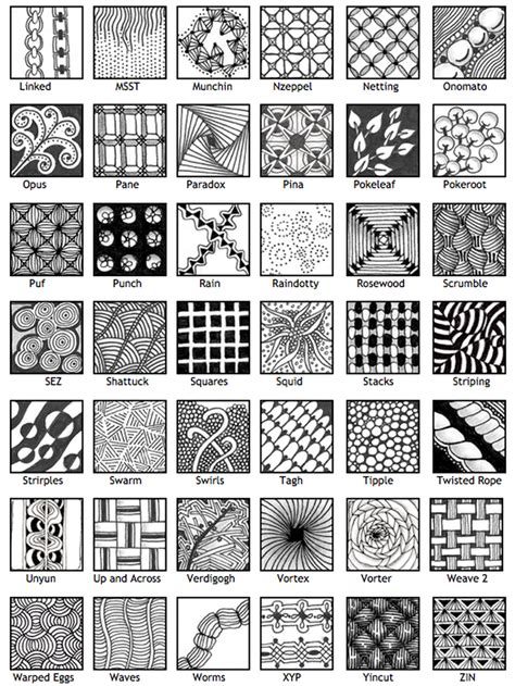 pattern drawing pdf 30 easy zentangle patterns to give you great ideas for