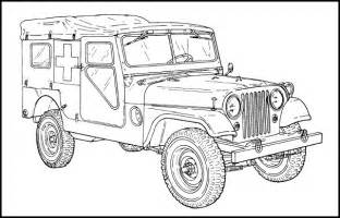 How To Draw A Army Jeep Free Coloring Pages Of Jeep Willys Mb