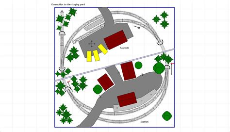 layout plans railway zone the german railway in h0