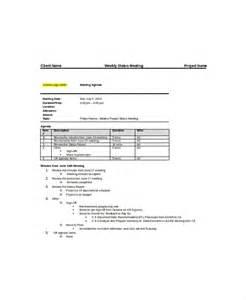 weekly meeting agenda template 12 weekly meeting agenda templates free sle exle