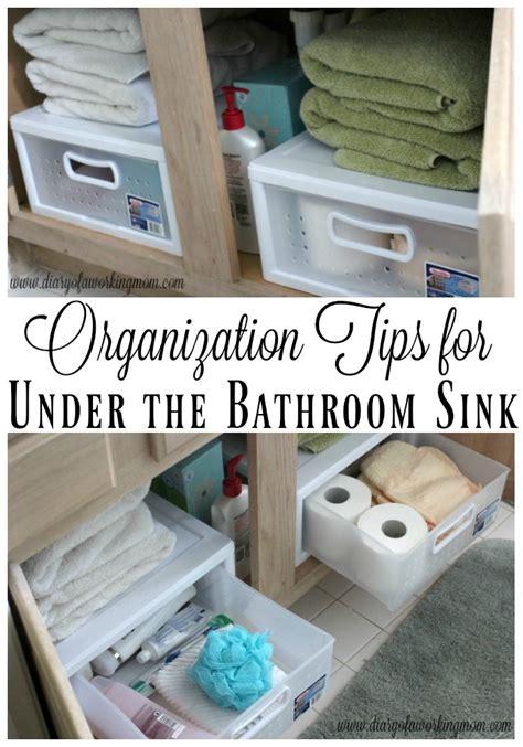 Bathroom Sink Organization Ideas by Organization Tips For The Bathroom Sink Diary Of A