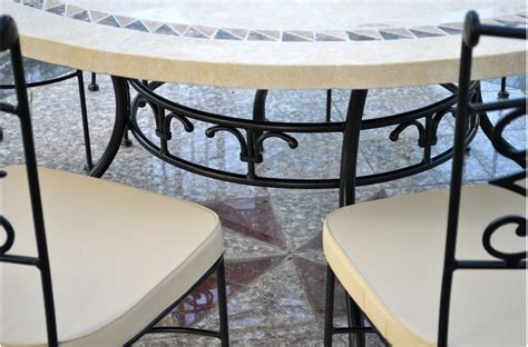 Granite Patio Table 49 63 Quot Patio Outdoor Dining Table Mosaic Marble Imhotep
