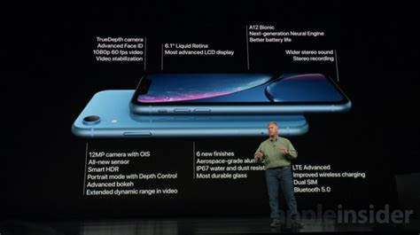 apple announces colorful new 6 1 inch iphone xr with screen liquid retina display and id