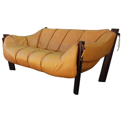 yellow leather sofa and loveseat yellow leather brazilian percival lafer two seat sofa or