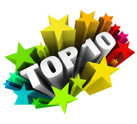 10 Great And At The Awards by Top 10 Ten Celebrate Best Review Rating Award Stock