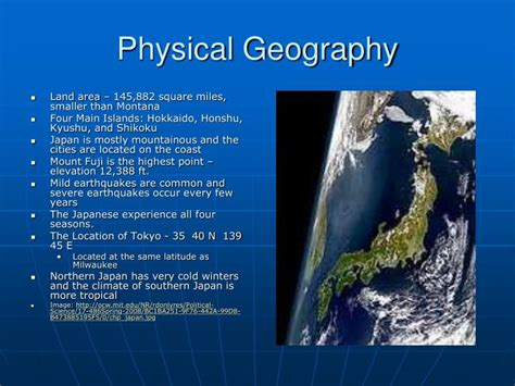 Physical Landscape Definition Human Geography Ppt The Human Geography Of Japan Powerpoint Presentation